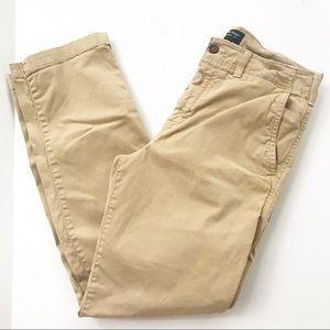 American Eagle Khaki Pants 32 34 Flex Straight